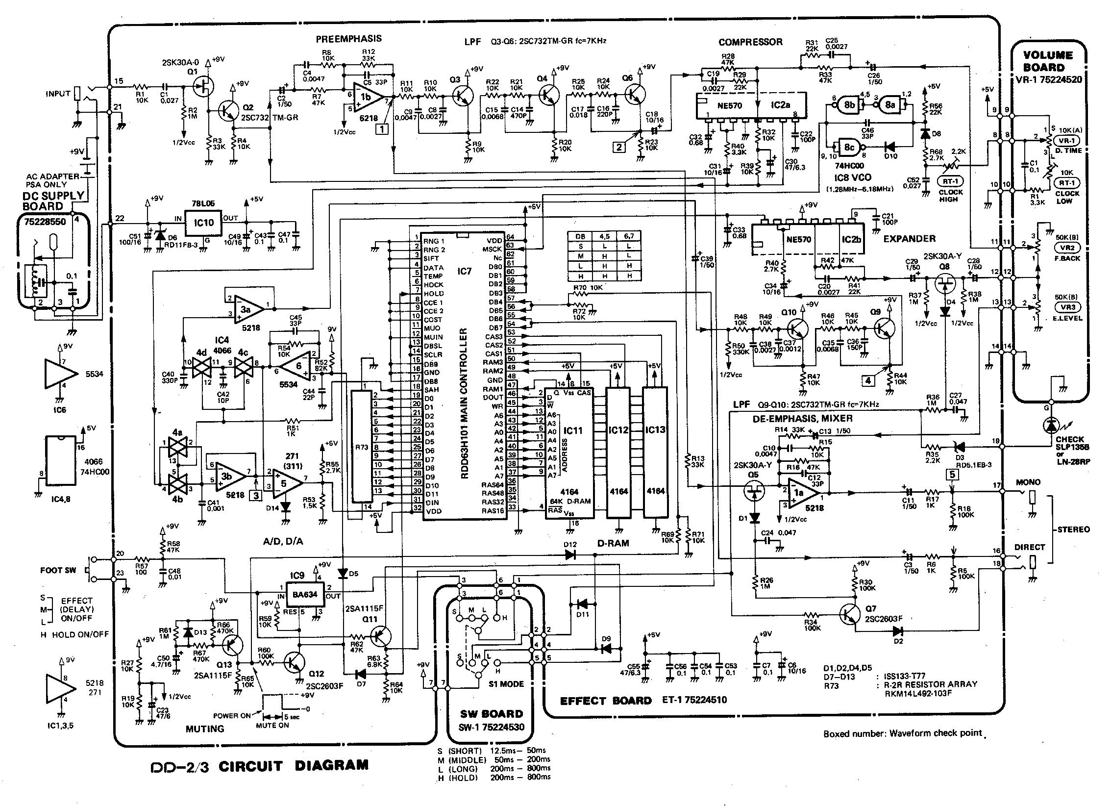 гитарное эхо схема и описание