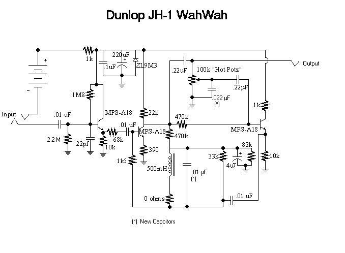 Dunlop Jimi Hendrix Wah JH-1 схема