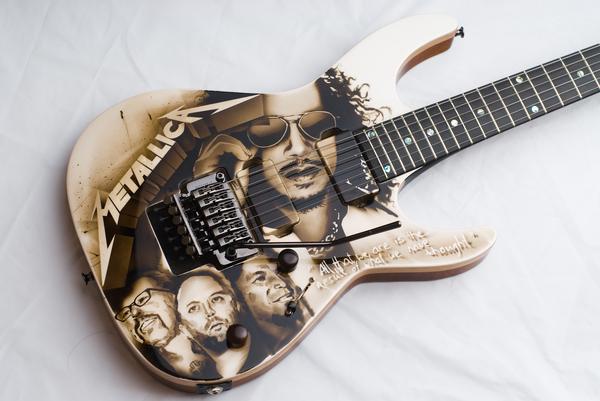 Аэрография на гитаре 1