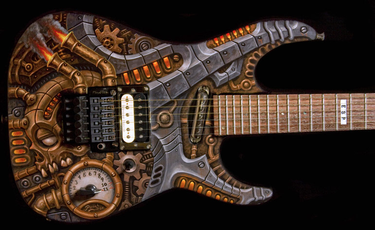 Аэрография на гитаре 2