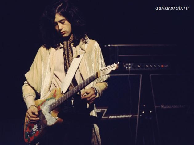 Джимми Пейдж с гитарой Fender Telecaster