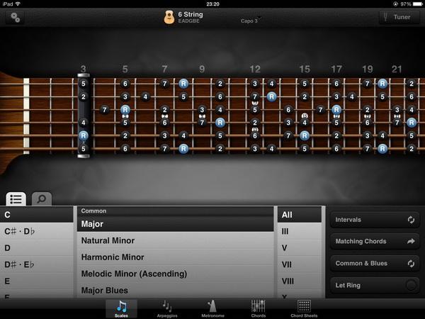 приложение GuitarToolkit