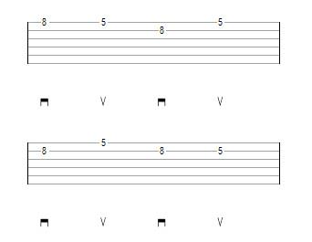 паттерн 1 переход со струны на струну при переменном штрихе