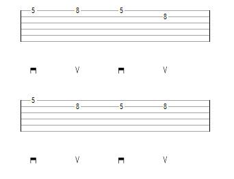 паттерн 2 переход со струны на струну при переменном штрихе