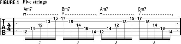 пример 3 для тренировки свипа на гитаре