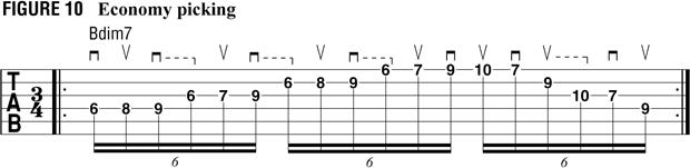 пример 9 для тренировки свипа на гитаре