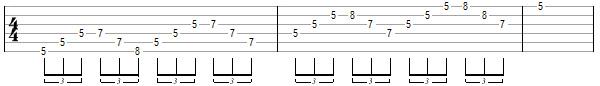 упражнение 10 для игры свипом на гитаре