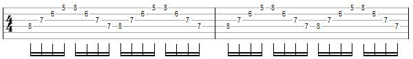 упражнение 11 для игры свипом на гитаре