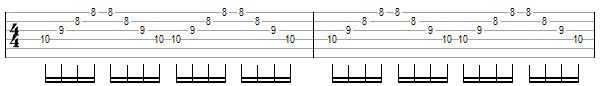 упражнение 7 для игры свипом на гитаре