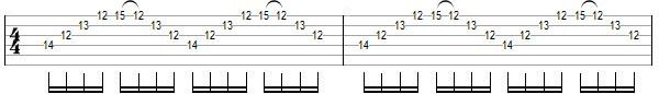 упражнение 8 для игры свипом на гитаре