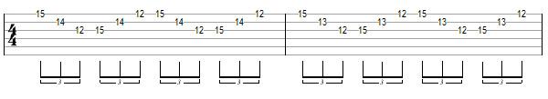 упражнение 2 для игры свипом на гитаре