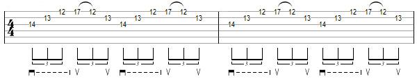 упражнение 3 для игры свипом на гитаре