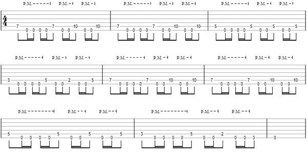 упражнение 12 на глушение струн