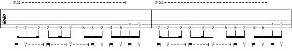 упражнение 6 на глушение струн