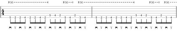 упражнение 7 на глушение струн