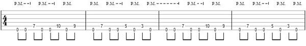 упражнение 9 на глушение струн