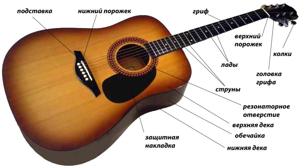 схема строения гитары будним дням