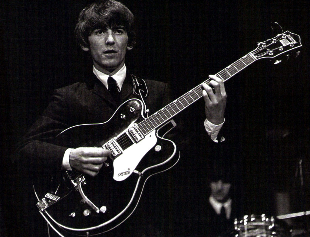 George Harrison-with-gretsch-guitar